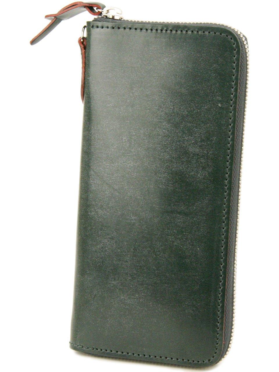 [コルボ] CORBO. 長財布 1LD-0223 アコーディオン型 ラウンドファスナー フェイス ブライドルレザー face Bridle Leather B004DBNXLU ダークグリーン ダークグリーン