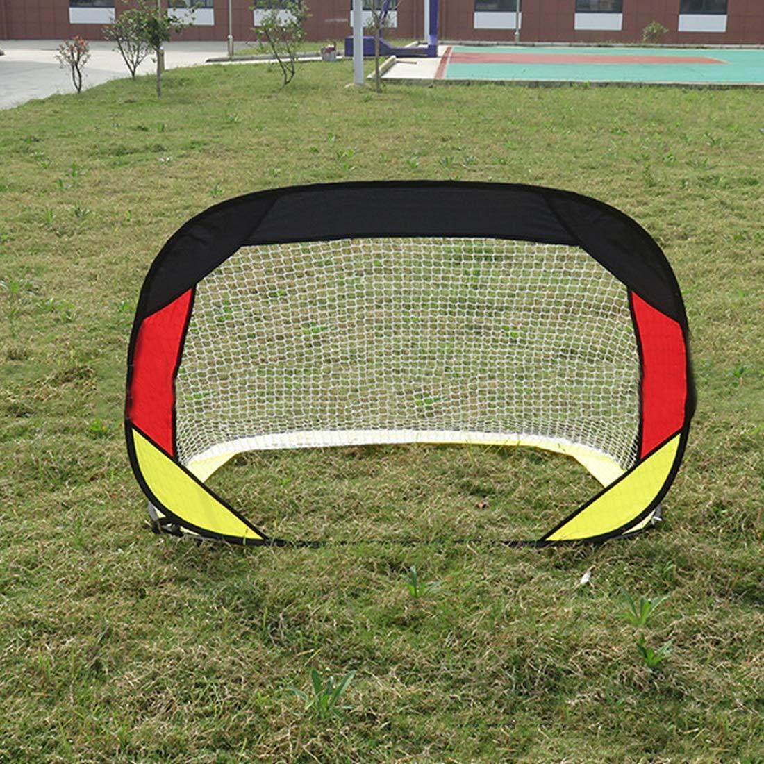Jsqianchen Fußball-Tor-faltende Erwachsene Kinder-Familie für Innen-im Freien kombinierte Mini-Goall-Versammlung einfaches Ziel