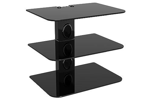 Mensole Da Parete Per Lettore Dvd : Staffa da parete sky box nero colonna mensole in vetro nero nero