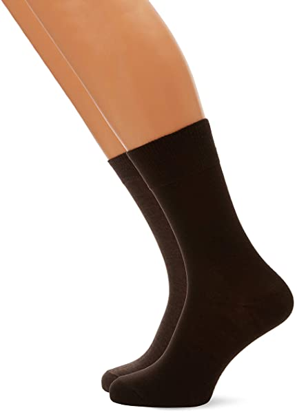 Oliver Socks S20028- Calcetines para hombre, color Marrón (Brown Melange 57