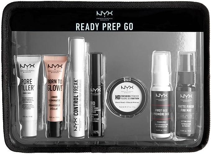 Nyx Jet Set de maquillaje profesional kit de viaje – listo, Prep, Go: Amazon.es: Belleza