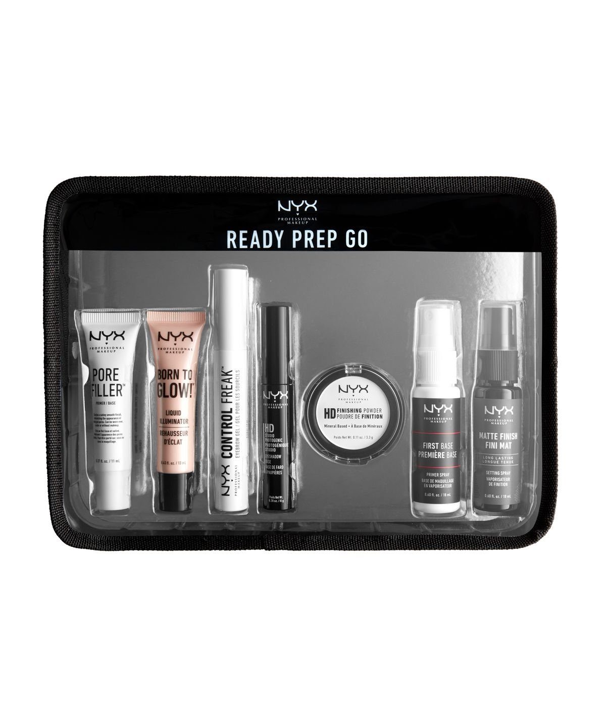 NYX PROFESSIONAL MAKEUP Jet Set Travel Kit - Ready, Prep, Go