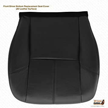 2011 2012 2013 GMC Yukon Denali Driver Side Bottom Leather Seat Cover Black