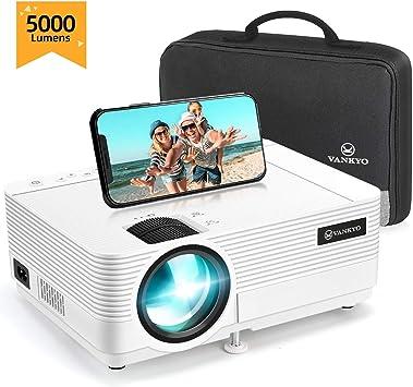 VANKYO L470C - Mini proyector portátil de 5000 lúmenes, 1080p, 250 ...