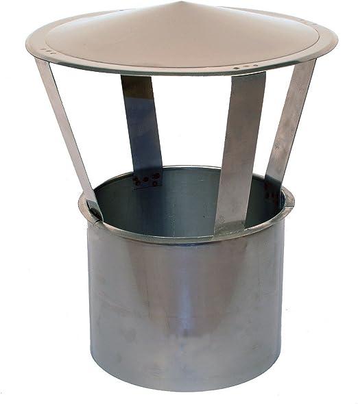 Regenhaube Einschub rund 150mm Schornsteinabdeckung Kaminabdeckung rund DN 150mm Kaminhaube