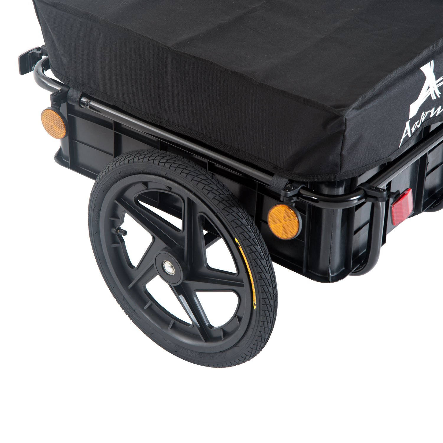 Aosom Enclosed Bicycle Cargo Trailer - Black by Aosom (Image #8)