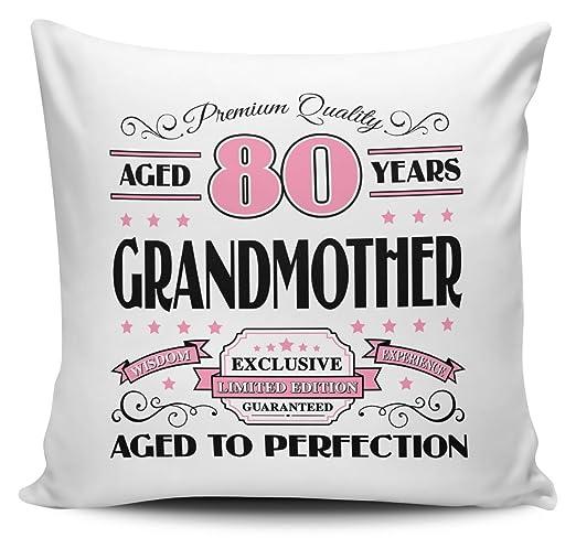 Premium calidad años 80 años abuela - Funda para cojín ...