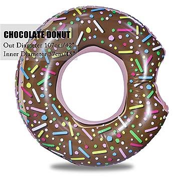 """YONYHFHWRF 107Cm 42"""" Donut Inflable Gigante Anillo De NatacióN Piscina Flotadores CíRculo Playa Mar Parte"""