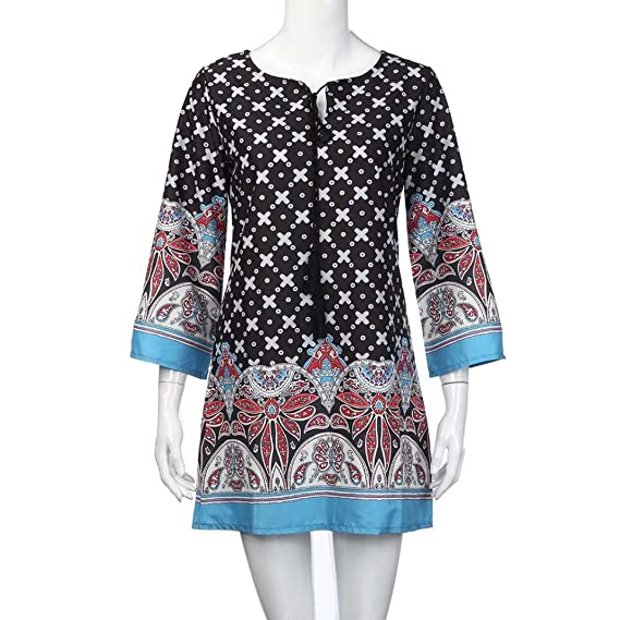Amazon.com : GBSELL Womens Vestidos Print Vintage Dress Casual Party Beach : Sports & Outdoors