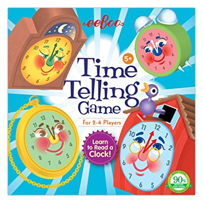 eeBoo Time Telling Clock Game for Kids: Toys & Games