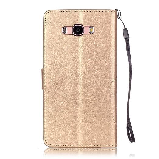 Lotuslnn Samsung Galaxy J7 2016/SM-J710 Funda, diamantes de imitación de cristal Flip Wallet Case Samsung Galaxy J7 2016/SM-J710 Cases and Cover - (Funda+ ...
