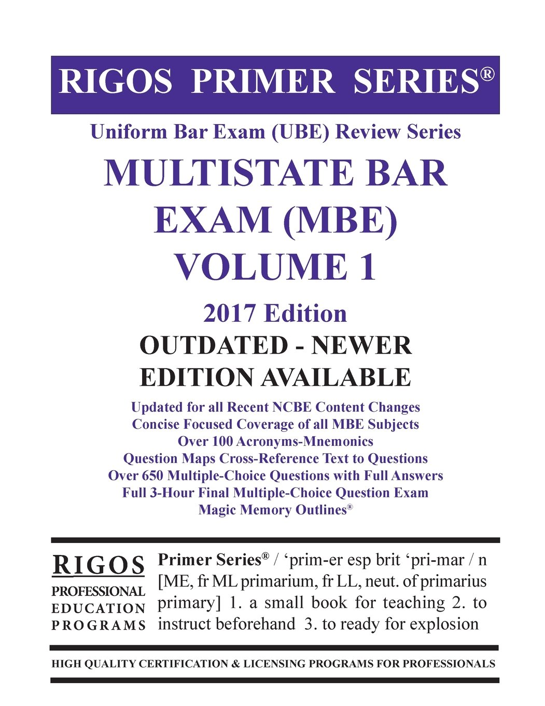 Buy Rigos Primer Series Uniform Bar Exam Ube Review Multistate Bar