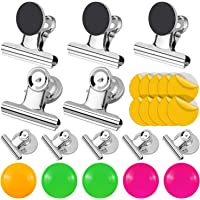 Homgaty 25Pcs Magnetic Clips Fridge Whiteboard, Magnet Hook Clips, Magnetic Bulldog Clips Large for Refrigerator Freezer Home Office Paper(50mm Wide+30mm Wide)