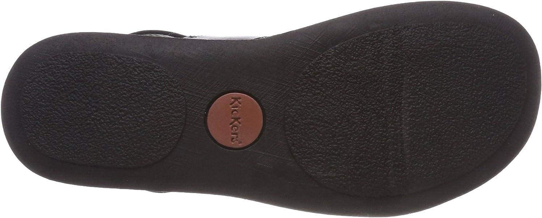 Kickers 471182 60, Bout Ouvert Homme Noir Noir (Noir 8