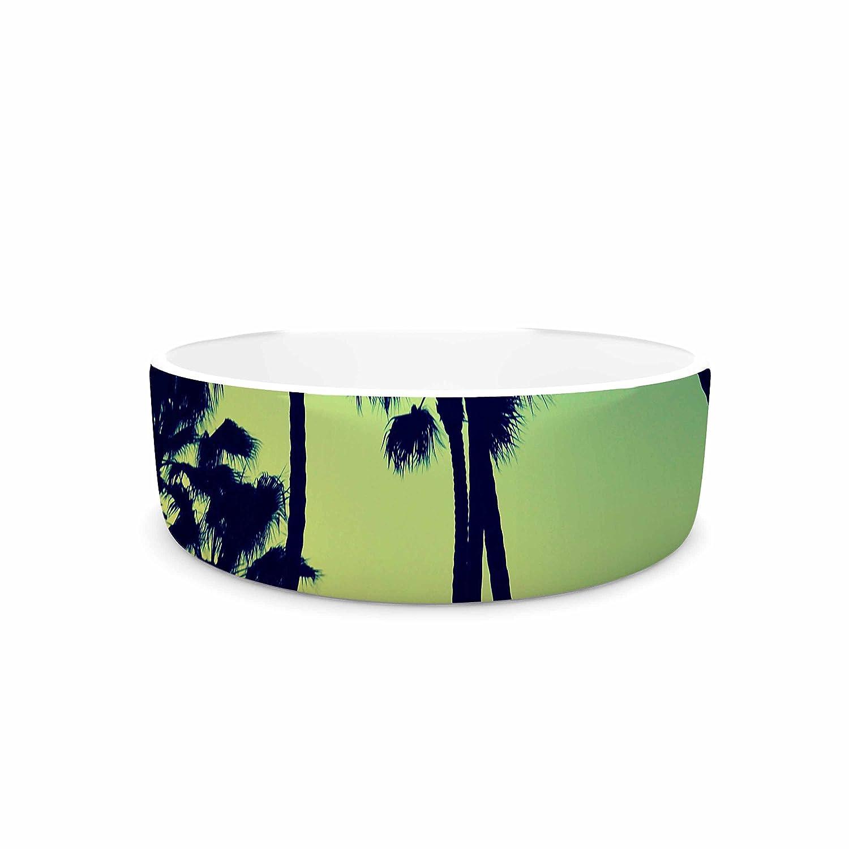 KESS InHouse Richard Casillas Ocean Blvd Cruisin  Green Yellow Pet Bowl, 7