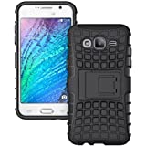 AJM Samsung Galaxy J1 Ace Defender Stylish Hard Back Armor Shock Proof Case Cover with Back Stand Feature