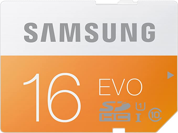 SAMSUNG EVO - Tarjeta de Memoria SDHC de 16 GB (UHS-I Grade 1, Clase 10, 24 MB/s)