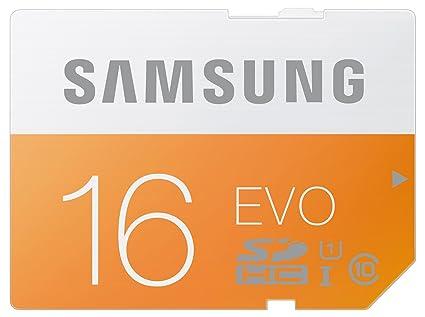 Samsung Evo MB-SP16D/EU - Tarjeta de memoria SDHC de 16 GB (UHS-I Grade 1, Clase 10)