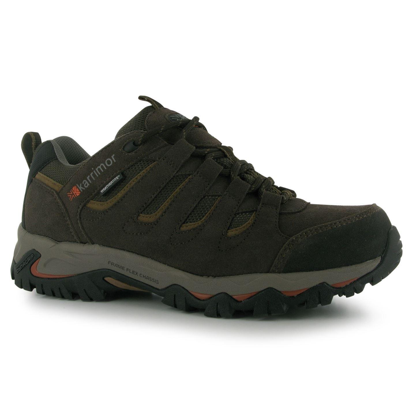 Karrimor Mens Mount Low Walking Shoes Lace up Treking Hiking 10 F(M) UK Brown