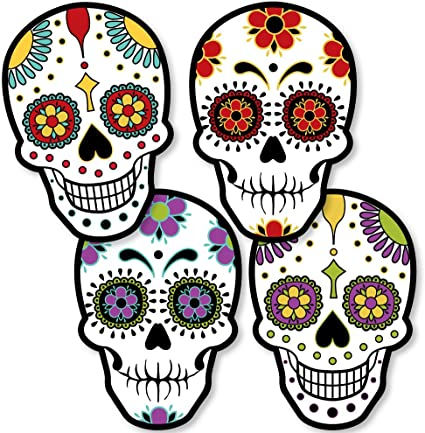 Halloween Skull Decorations.Amazon Com Big Dot Of Happiness Day Of The Dead Sugar Skull Decorations Diy Halloween Party Essentials Set Of 20 Toys Games