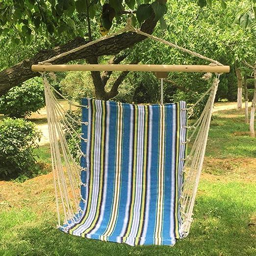 XXL Silla De Jardín with Palo De Madera, 100x130cm (Capacidad de Carga 200 Kg) Azul Columpio Exterior para Jardín Patio Interior: Amazon.es: Jardín