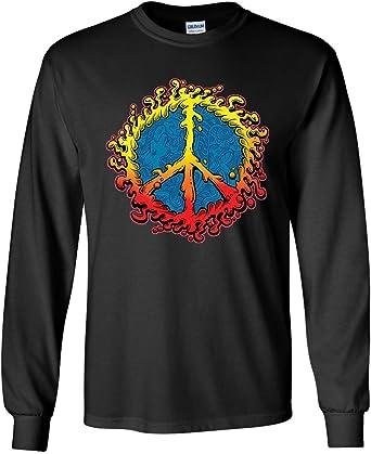 Peace Sign Ameoba Women/'s T-Shirt Happy Love Hippie Dream Joy Happiness Shirt