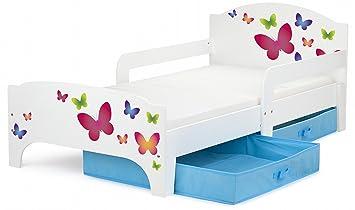 Moderne Smart Lit D Enfant Toddler 140x70 Motif Papillons