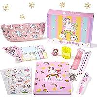 Yetech Set de papelería Unicornio-Cuaderno con Cerradura de Unicornio Regalo de cumpleaños de Navidad para niñas Edades…