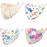 Face Mask for Kids Reusable Washable, Face Mask with Adjustable Ear Loops Mask