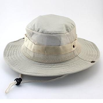 HENLOOO Sombrero de Camuflaje, Sombrero de Pescador Unisex, Sombrero de Sol de ala Ancha