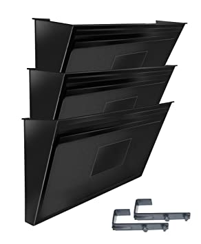 Acrimet Archivador de Pared Modular para Folletos o Documentos (3 Unidades) (Color Negro): Amazon.es: Oficina y papelería