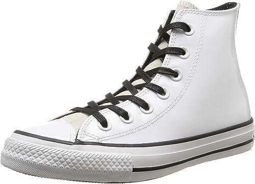Converse All Star Hi Patent/Suede, Sneaker a Collo Basso Donna