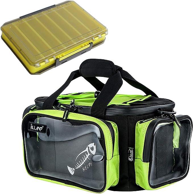 NITEHAWK Deluxe XL 55 L Fishing Tackle Bag Multi Poche Organisateur Fourre-tout,