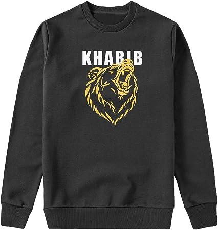 MYMERCHANDISE Khabib Bear Russia MMA Capucha Crewneck Sudadera Sweater Sweatshirt Camisa De Entrenamiento Cumpleaños