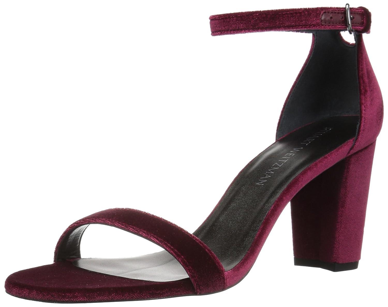 Stuart Weitzman Women's Nearlynude Heeled Sandal B06XPSYB7J 5.5 B(M) US|Scarlet