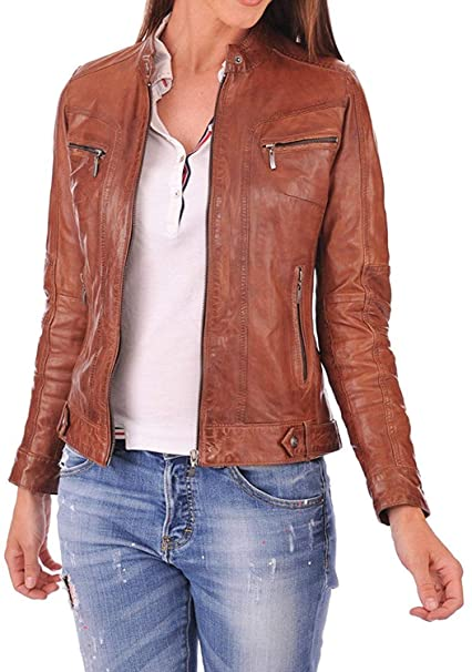 Amazon.com: Dolly Lamb - Chaqueta de piel de cordero para ...