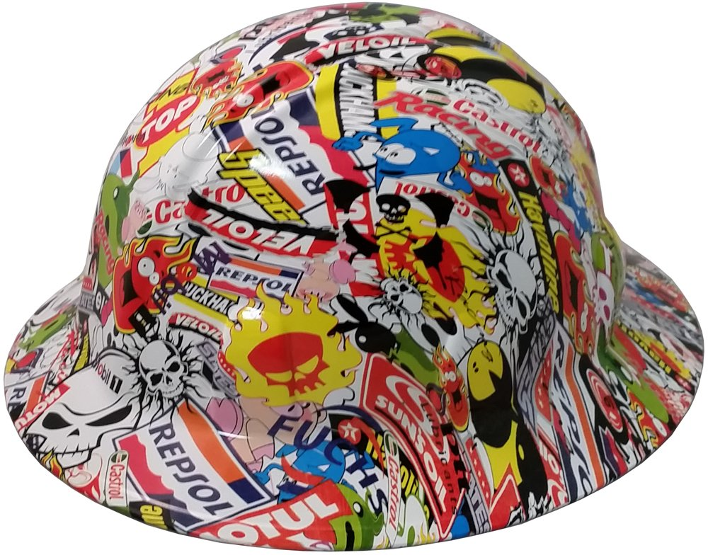 2dfd0cd3751c17 ... texas america safety company sticker bomb full brim style hydro dipped hard  hat amazon; new york ...