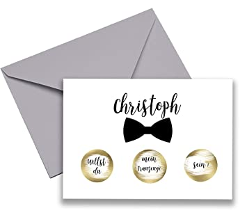 Happy Wedding Art Willst Du Mein Trauzeuge Sein Rubbellos Karte Hochzeit  Einladung Rubbellos Personalisiert Individuell Name
