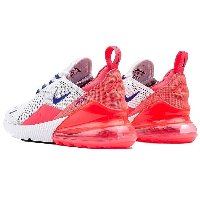 huge discount 164bd 5b0ae Nike Women's WMNS Air Max 270, White/Ultramarine-Solar RED-Black, 8.5 M US