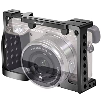 Neewer Jaula de cámara aluminio para cámaras Sony A6000 A6300 ...