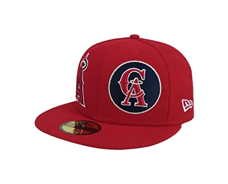4c23461e7 Amazon.com: New Era 59Fifty Hat MLB Anaheim Angels 1961 Heritage ...