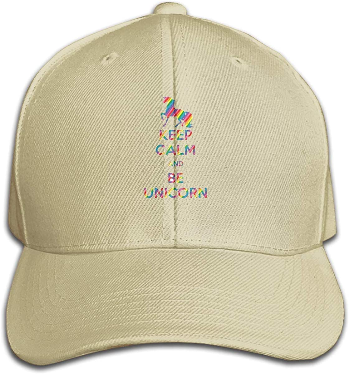 Keep Calm and Be Unicom Classic Adjustable Cotton Baseball Caps Trucker Driver Hat Outdoor Cap Natural
