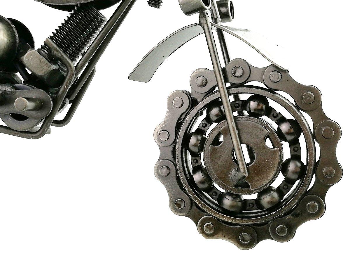 Silver metallo Winterworm creative retro arte di ferro moto modello metallo moto collezione Simple Modern Home Decor ornamenti Motocycle for lovers