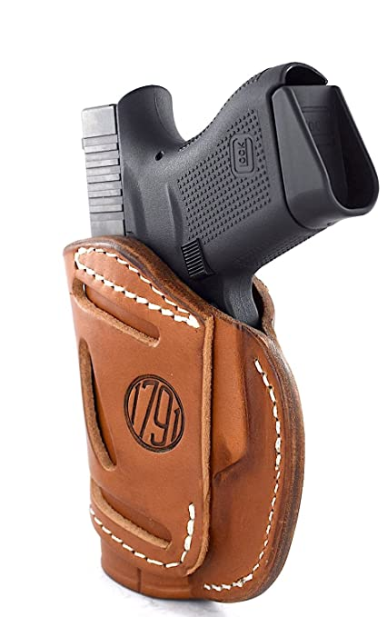 Right Hand... 1791 GunLeather 4-WAY Glock 43 Holster OWB and IWB CCW Holster