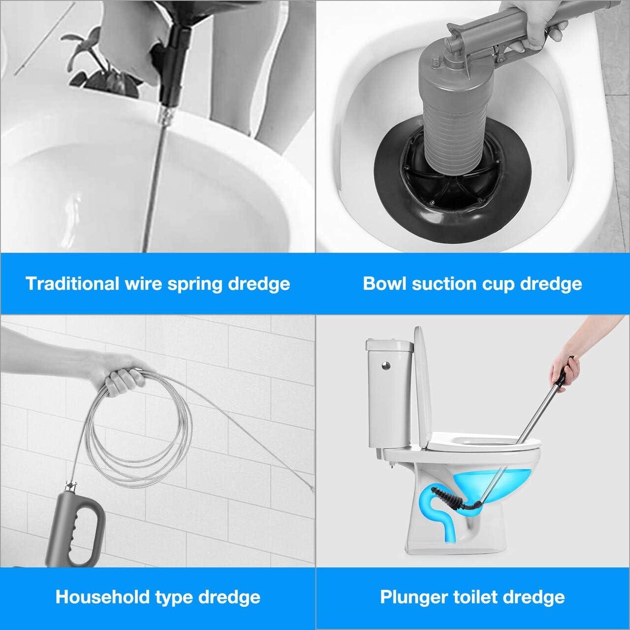 Toilette P/ömpel WC P/ümpel Reinigungsb/ürste Rohrreiniger Abflussreiniger WC Plunger mit Wand Haken f/ür alle Verstopfte Blockaden Toilette