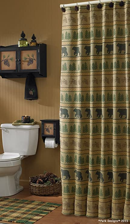 Bear Tracks Shower Curtain 72quot