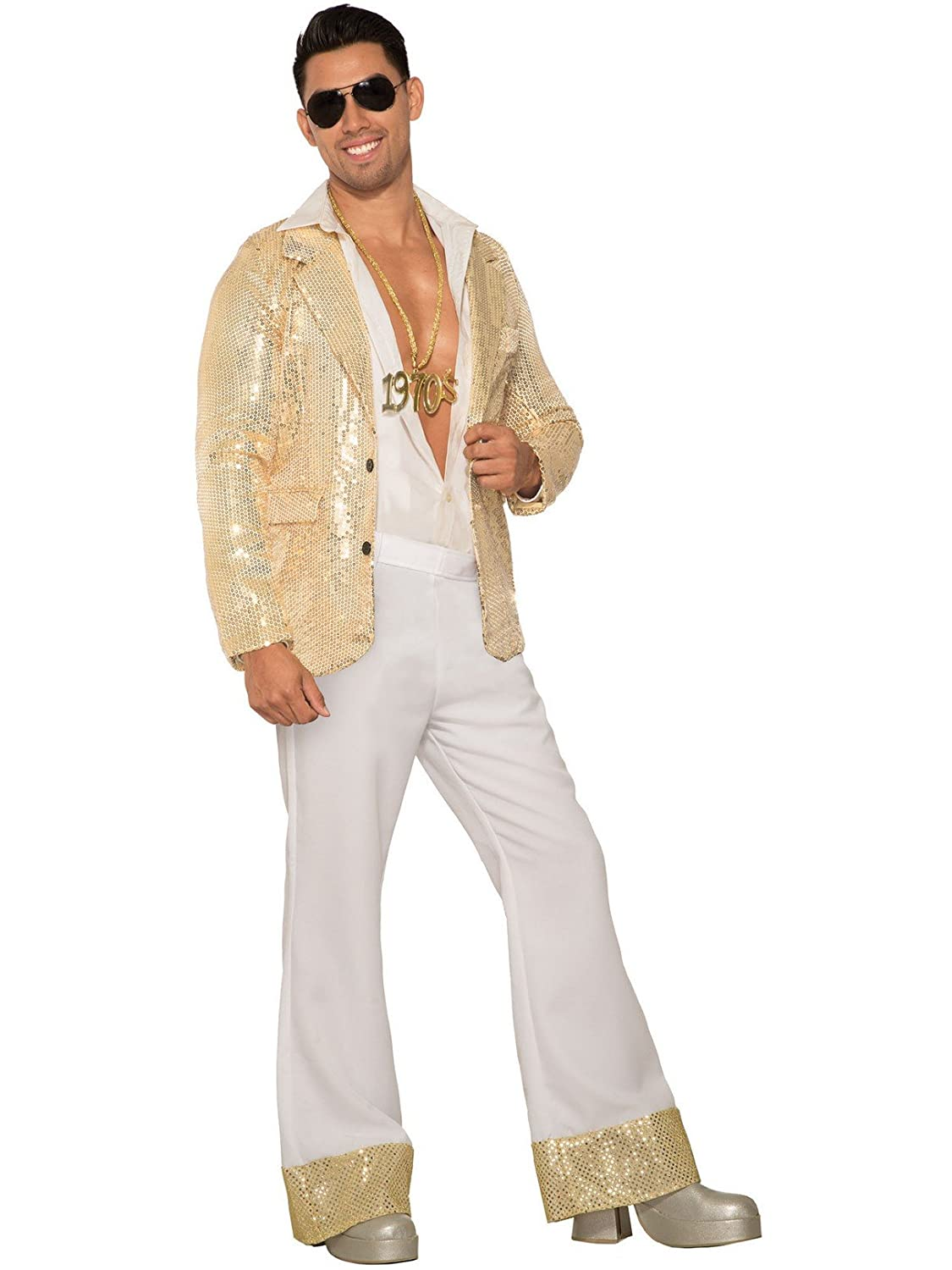 70s Costumes: Disco Costumes, Hippie Outfits Mens Disco Pants-White $17.98 AT vintagedancer.com