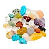 "JOVIVI Natural Tumbled Polished Natural Stones Assorted Mix - Mini Size 0.12"" to 0.47 Avg."