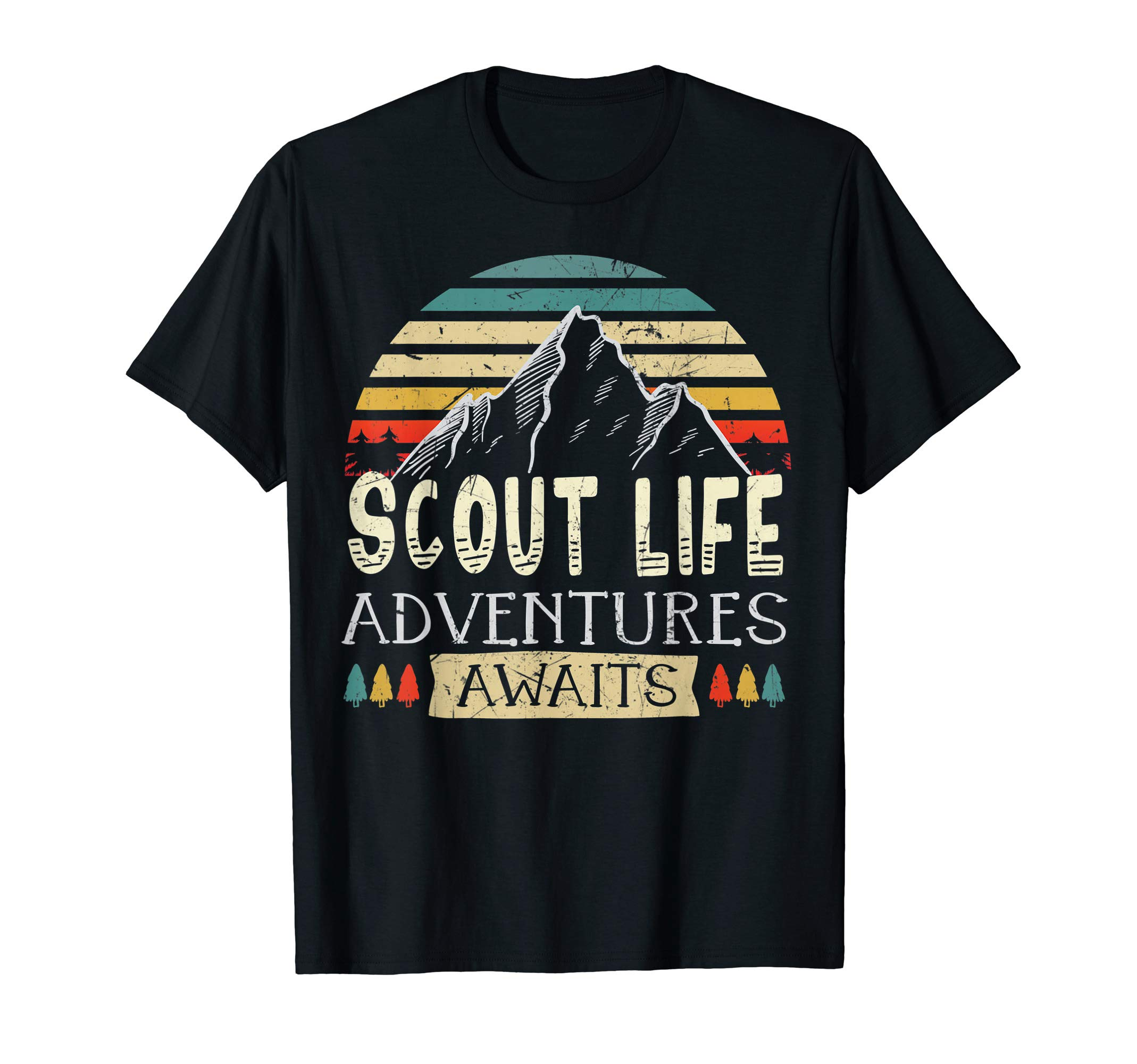 Scout Life Adventures Awaits Scouting life gift T-Shirt by Cub Camping Hiking Scouting Gifts