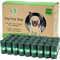 Greener Walker Poop Bags for Dog Waste-540 Bags,Extra Thick Strong 100% Leak Proof Biodegradable Dog waste Bags (Deep…